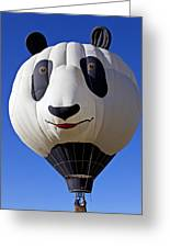 Panda Bear Hot Air Balloon Greeting Card