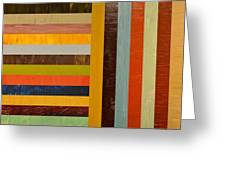 Panel Abstract - Digital Compilation Greeting Card by Michelle Calkins