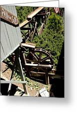 Panning For Gold In Virginia City Nevada Greeting Card