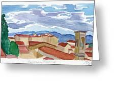 Panorama Florence Greeting Card