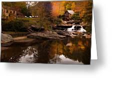 Panorama  Glade Creek Mill Greeting Card
