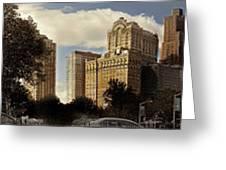 Panorama Of Manhattan Downtown  Greeting Card