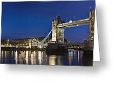 Panorama Of Tower Bridge And Tower Of London Greeting Card