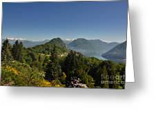 Panorama View Over Mountain Greeting Card