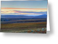 Panoramic At Sunset Along The Dempster Greeting Card