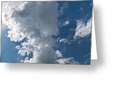Panoramic Clouds Number 1o Greeting Card