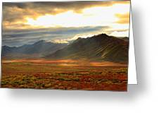 Panoramic Image Of Late Afternoon Greeting Card