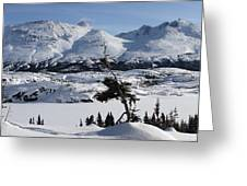 Panoramic Of An Unnamed Mountain Taken Greeting Card