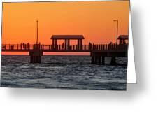Panoramic Pier Greeting Card