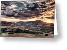 Panoramic Sunset Greeting Card