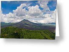Panoramic View Of A Volcano Mountain  Greeting Card