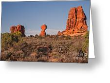 Panoramic View Of Balance Rock                                                       Greeting Card