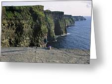 Panoramic View Of Cliffs, Cliffs Of Greeting Card