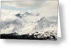 Panoramic View Of Snow-covered St Greeting Card