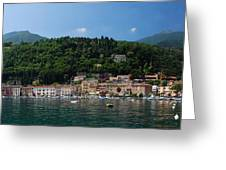 Panoramic View Of Toscolano-maderno Greeting Card