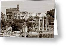 Panoramic View Via Sacra Rome Greeting Card