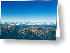 Panoramic View Zugspitze German Austrian Boarder Greeting Card