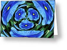 Pansy In Triplicate Greeting Card