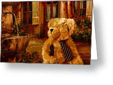 Papa Bear Greeting Card by David Alvarez