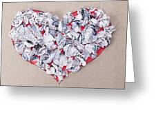 Paper Dump Heart Concept Greeting Card