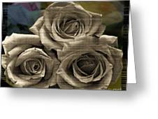Paper Roses Art Greeting Card
