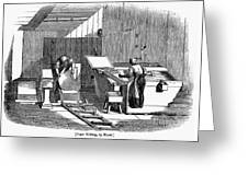 Papermaking, 1833 Greeting Card by Granger