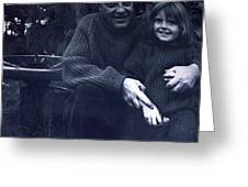 Pappa Hans With Daughter Colette Greeting Card