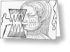 Par� Suture, 1500s Greeting Card