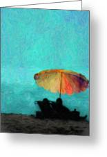 Paradise By The Sea Greeting Card