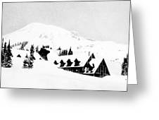 Paradise Inn Buried In Snow, 1917 Greeting Card