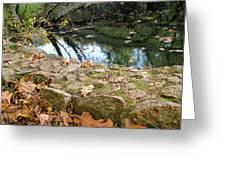 Paradise Springs Stone Wall Greeting Card
