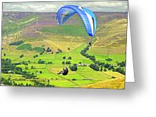 Paragliding Off Mam Tor 01 Greeting Card