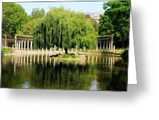 Parc Monceau Paris Greeting Card