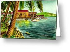 Parguera Fishing Village Puerto Rico Greeting Card
