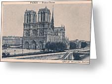 Paris - Notre Dame Greeting Card