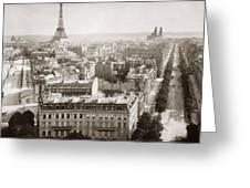 Paris: Aerial View, 1900 Greeting Card