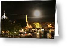 Paris At Night Greeting Card