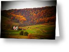 Paris Barn In Autumn Greeting Card