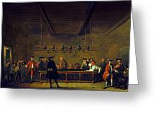 Paris: Billiards, 1725 Greeting Card