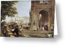 Paris: Book Stalls, 1843 Greeting Card