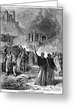 Paris: Burning Of Heretics Greeting Card