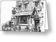Paris: Cafe, 1889 Greeting Card