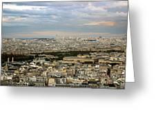 Paris City View Greeting Card