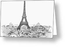 Paris Exhibition, 1889 Greeting Card