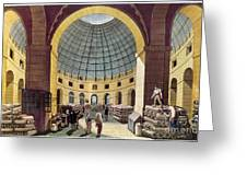 Paris: Halle Au Ble, C1785 Greeting Card