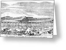 Paris: Les Halles, 1858 Greeting Card