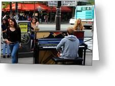 Paris Musicians 2 Greeting Card