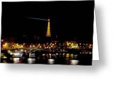Paris Night Greeting Card