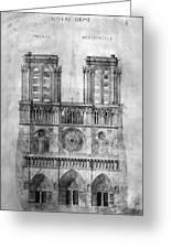 Paris: Notre Dame, 1848 Greeting Card