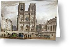 Paris: Notre Dame, C1820s Greeting Card